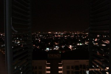 Night view over PJ and into KL